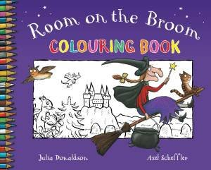 The Room on the Broom Colouring Book by Julia Donaldson