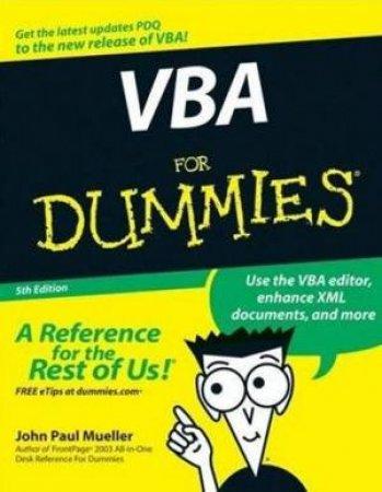 VBA For Dummies 5th Ed