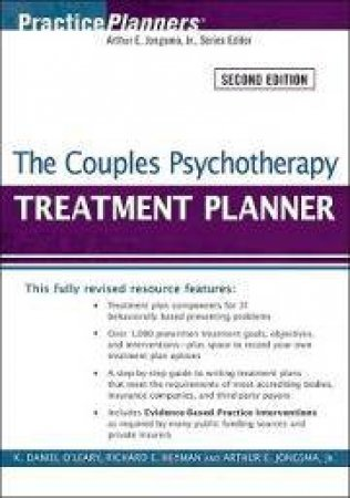 The Couples Psychotherapy Treatment Planner, Second Edition by K Daniel O'Leary