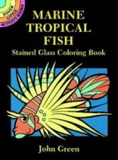 Marine Tropical Fish Stained Glass Coloring Book