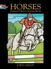 Horses Stained Glass Coloring Book