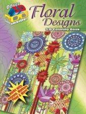 3D Coloring BookFloral Designs