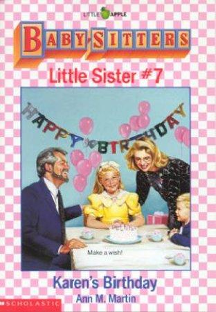 Karen's Birthday by Ann M Martin
