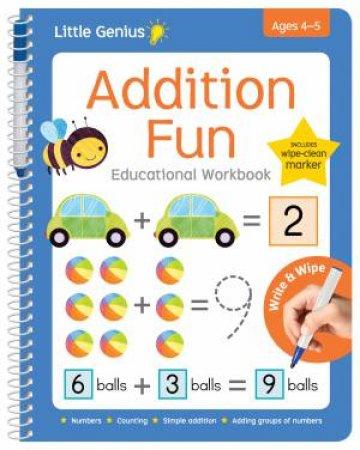 Little Genius Write & Wipe Workbook Addition Fun