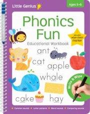 Little Genius Write And Wipe Workbook Phonics Fun