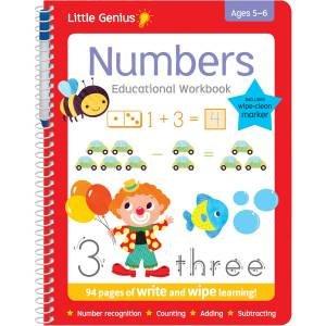 Little Genius Write & Wipe Bind-Up Workbooks: Numbers