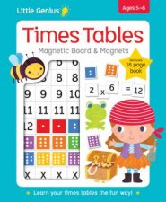 Little Genius Times Tables Magnetic Board  Magnets