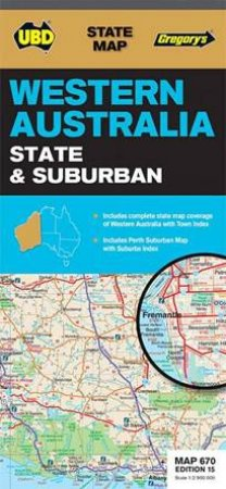 Travel australian maps best sellers qbd books australias ubdgregorys western australia state and suburban map 670 15th gumiabroncs Choice Image