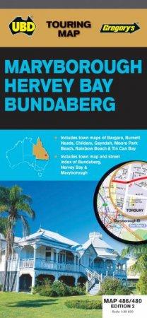 UBD/Gregorys Maryborough, Hervey Bay & Bundaberg Map 486/480 - 2nd Ed. by Various