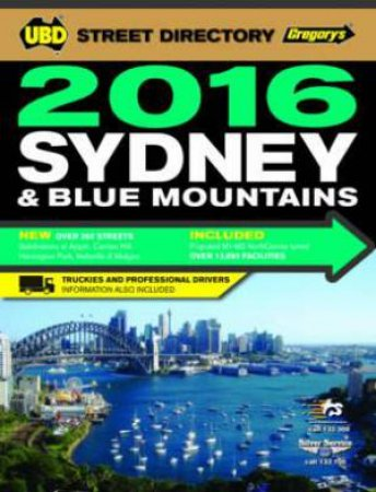 UBD/Gregory's Sydney Street Directory 2016 - 52nd Edition