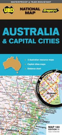 ubdgregorys australia cities map 180 11th ed by gregorys ubd