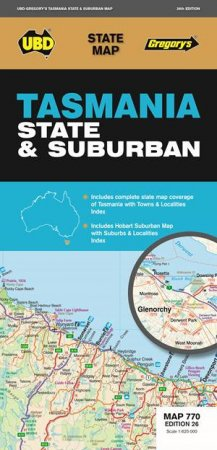 Buy travel books online sale 5 to 10 qbd books australias ubdgregorys tasmania state and suburban map 770 26th ed gumiabroncs Images