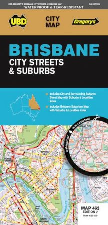 UBDGregorys Brisbane City And Suburbs Map 462 7th Ed by Various