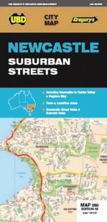ubd gregorys newcastle suburban streets map 280 18th ed