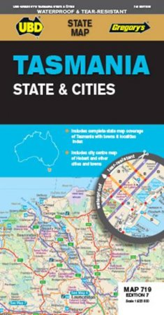 UBD/Gregory's Tasmania State and Cities Map 719- 7th Ed. by Various