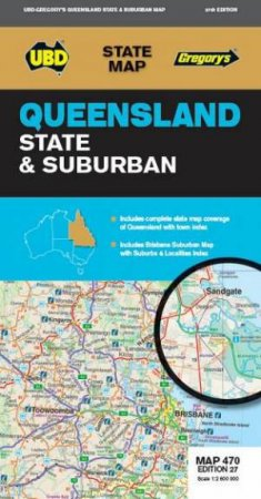 Queensland State & Suburban Map 470 27th