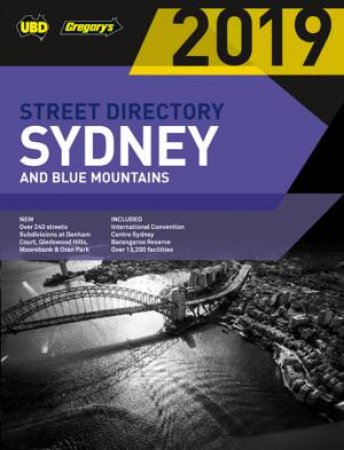 Sydney & Blue Mountains Street Directory 2019 55th Ed