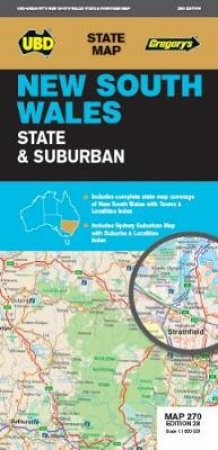 UBD/Gregory's NSW State & Suburban Map 270, 28th Ed.