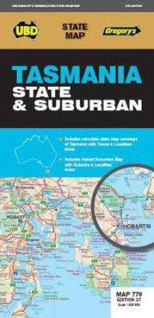 Tasmania State & Suburban Map 770 (27th Ed)