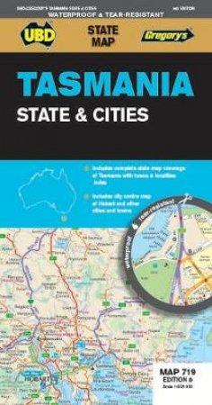 Tasmania State & Cities Map 719 8th Ed (Waterproof)