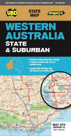 Western Australia State & Suburban Map 670 16th ed by Various