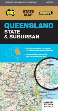 Queensland State & Suburban Map 470 28th Ed.