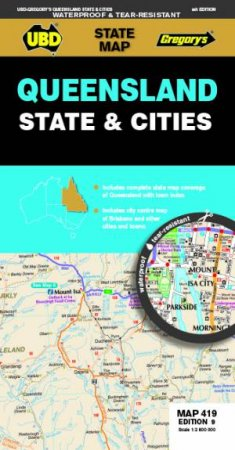 Queensland State & Cities Map 419 9th Ed (Waterproof) by Various