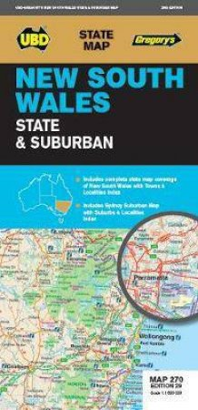 NSW State & Suburban Map 270 29th Ed by Various