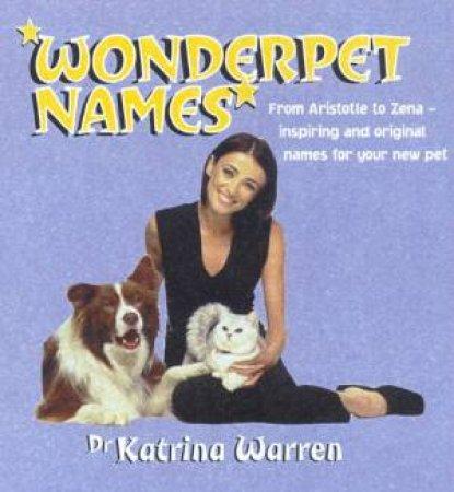 Wonderpet Names by Katrina Warren