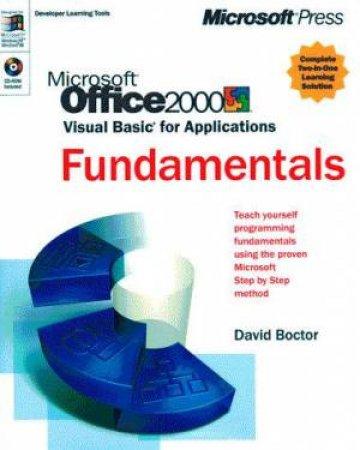 Microsoft Office 2000 VBA Fundamentals Mastering Solution Set by David Boctor