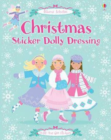 Christmas Sticker Dolly Dressing by Leonie Pratt