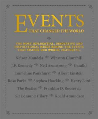 Events That Changed The World by Various