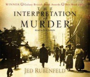 Interpretation of Murder CD by Jed Rubenfeld