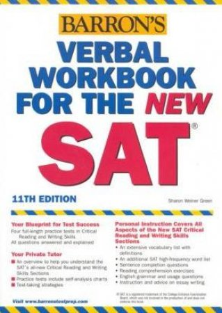 Verbal Workbook For The New Sat - 11 Ed by Sharon Weiner Green