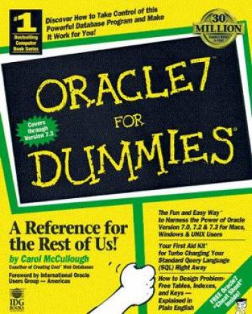 Oracle 7 For Dummies (Bk/Cd) by Carol McCullough