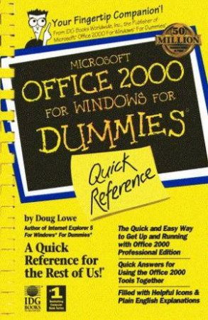 Microsoft Office 2000 For Windows For Dummies Quick Reference by Doug Lowe & Bjoern-Erik Hartsfvang