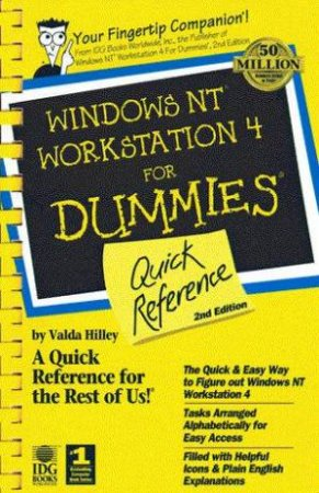 Windows NT Workstation 4 For Dummies Quick Reference by Valda Hilley