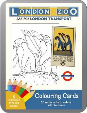 London Zoo: Art For London Transport Coloring Cards