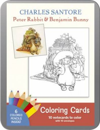 Santore: Peter Rabbit & Benjamin Bunny: Coloring Cards