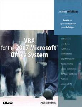 VBA For The 2007 Microsoft Office System by Paul Mcfedries