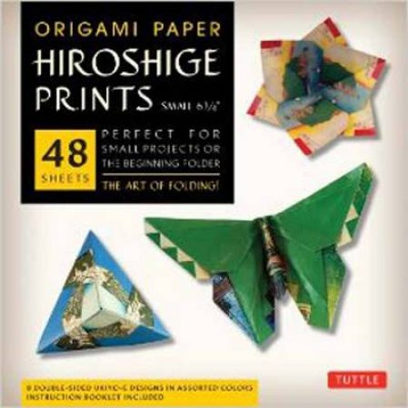 Origami Paper Hiroshige Prints Small 6 3/4 by Various