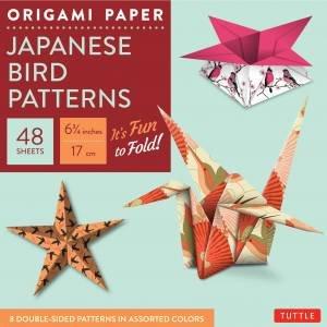 Origami Paper: Japanese Bird Patterns