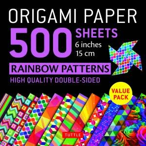 Origami Paper 500 Sheets Rainbow Patterns