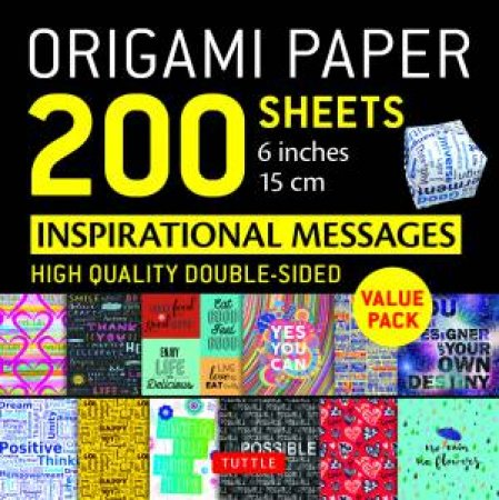 Origami Paper 200 Sheets: Inspirational Messages