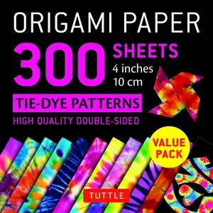 Origami Paper 300 Sheets Tie-Dye Patterns