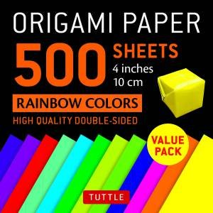 Origami Paper 500 sheets Rainbow Colors