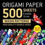 Origami Paper 500 Sheets Japanese Washi Patterns