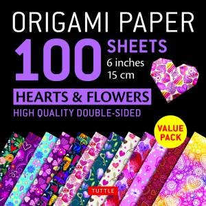 Origami Paper Hearts & Flowers