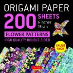 Origami Paper 200 Sheets Flower Patterns