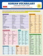 Korean Vocabulary Language Study Card
